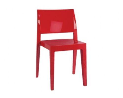Стул пластиковый Gyza красный - Фото №1