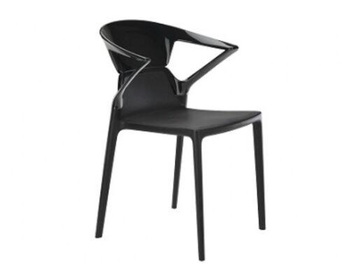 Кресло барное пластиковое Ego-K верх черный/сиденье черное - Фото №1