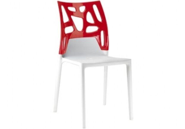 Кресло барное пластиковое Ego-Rock верх красный/сиденье белое - Фото №1