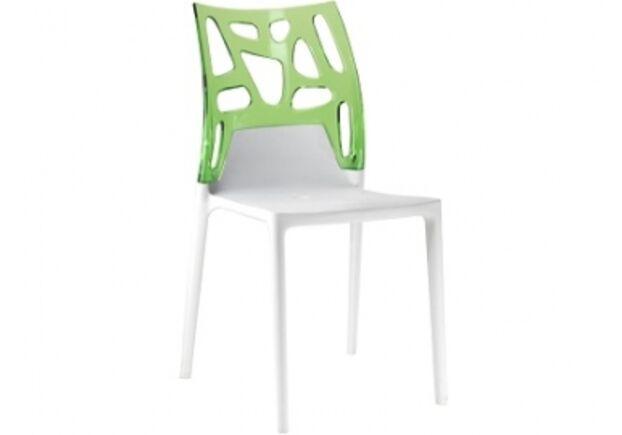Кресло барное пластиковое Ego-Rock верх прозрачно-зеленое/сиденье белое - Фото №1