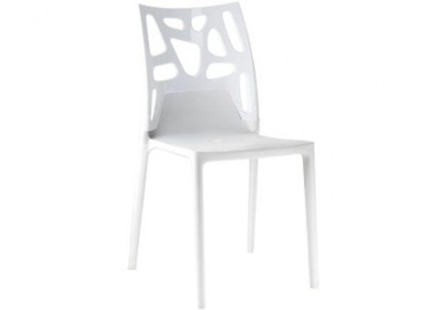 Кресло барное пластиковое Ego-Rock верх белый/сиденье белое - Фото №1
