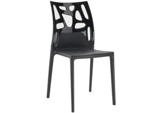 Кресло барное пластиковое Ego-Rock верх черный/сиденье черное - Фото №1