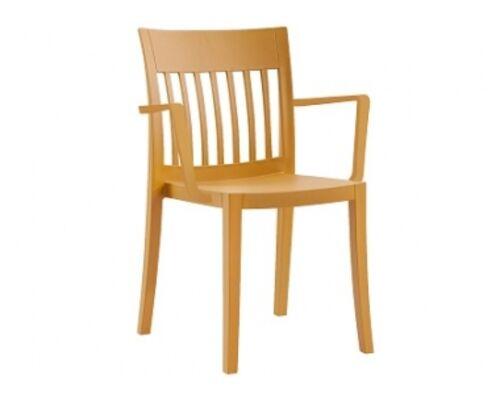 Пластиковый стул с подлокотниками Eden-K темно-желтый - Фото №1