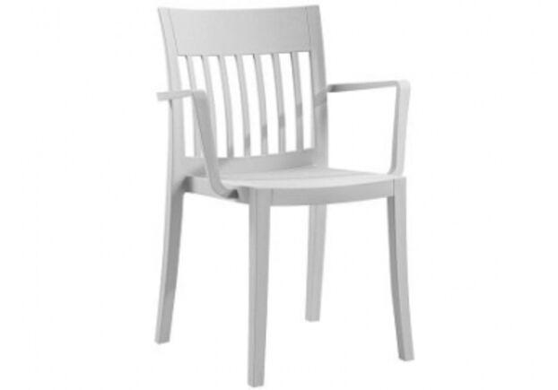 Пластиковый стул с подлокотниками Eden-K светло-серый - Фото №1