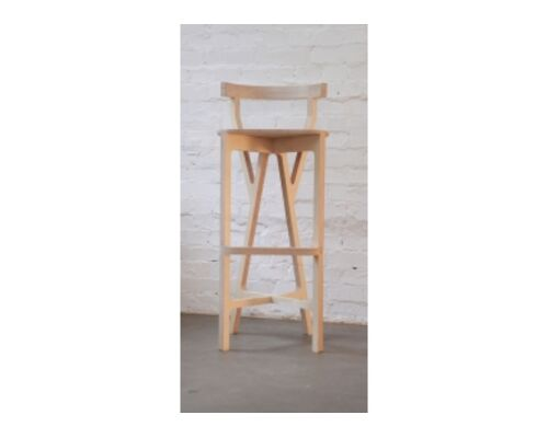Высокий барный стул Bar chair No.2 со съемными подушками - Фото №1