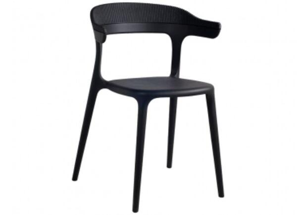 Стул пластиковый Luna-Stripe верх черный/сиденье черное - Фото №1