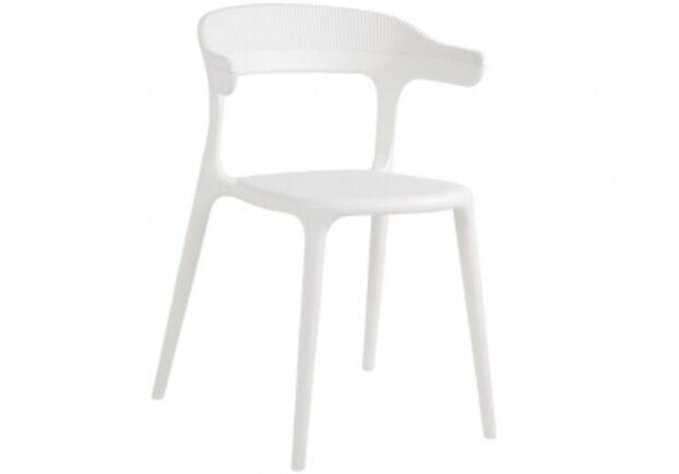 Стул пластиковый Luna-Stripe верх белый/сиденье белое - Фото №1