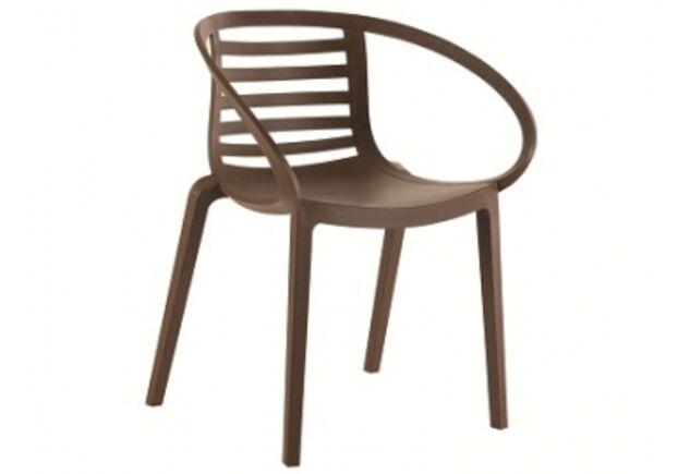 Кресло пластиковое Mambo коричневое  - Фото №1