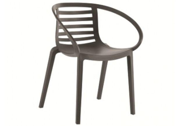 Кресло пластиковое Mambo антрацит - Фото №1