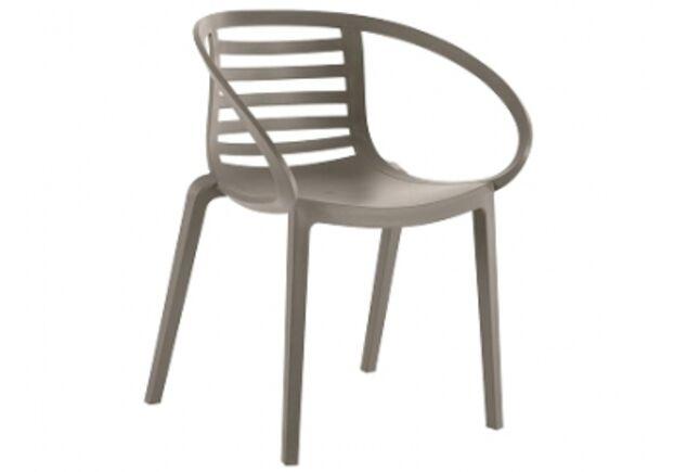 Кресло пластиковое Mambo серо-коричневое  - Фото №1