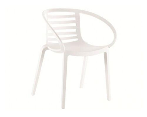 Кресло пластиковое Mambo белое - Фото №1