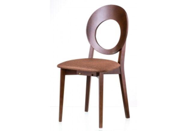 Стул обеденный Космо walnut орех C-615 сиденье коричневая ткань - Фото №1
