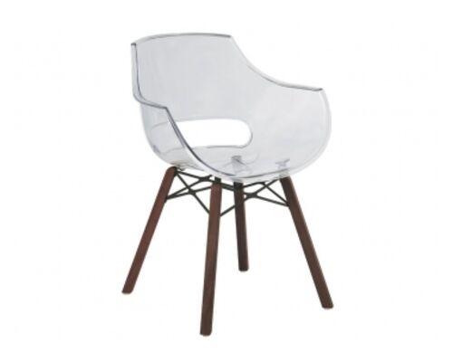 Кресло Opal Wox Iroko /каркас дерево Iroko сиденье белое - Фото №1