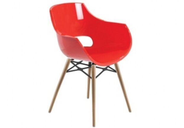 Кресло Papatya Opal-Wox натуральний бук красное - Фото №1
