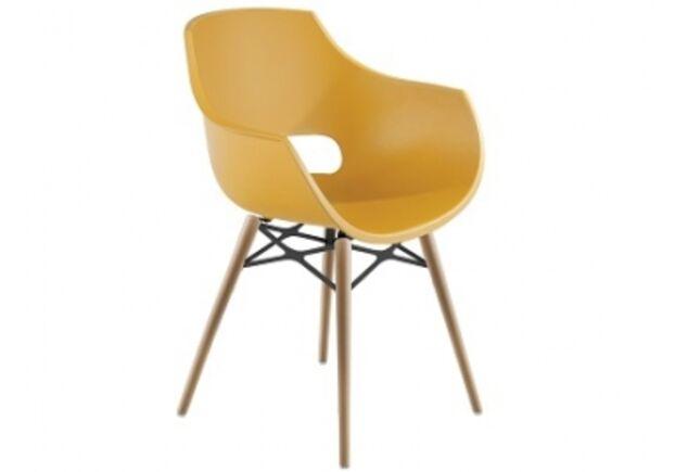 Кресло Papatya Opal-Wox натуральний бук желтое матовое - Фото №1