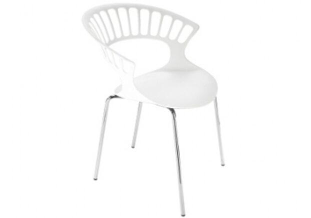 Кресло Papatya Tiara белое/база хром - Фото №1