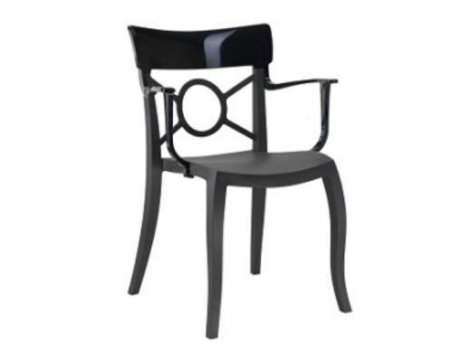 Кресло Papatya Opera-K сиденье черное/верх черный - Фото №1