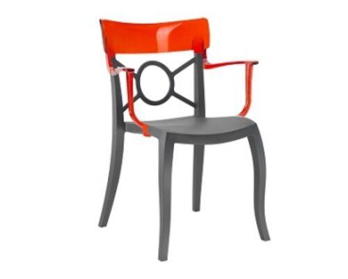 Кресло Papatya Opera-K сиденье антрацит/верх прозрачно-красный - Фото №1
