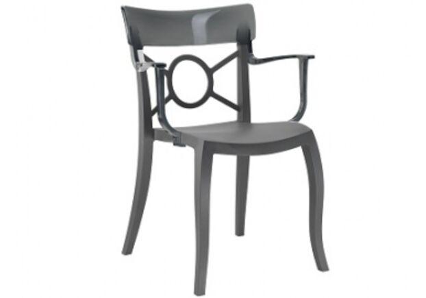 Кресло Papatya Opera-K сиденье антрацит/верх прозрачно-дымчатый - Фото №1