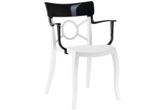 Кресло Papatya Opera-K сиденье белое/верх черный - Фото №1