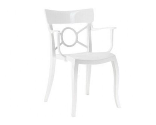 Кресло Papatya Opera-K сиденье белое/верх белый - Фото №1