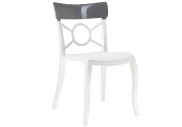 Кресло Papatya Opera-S сиденье белое/верх прозрачно-дымчатый - Фото №1