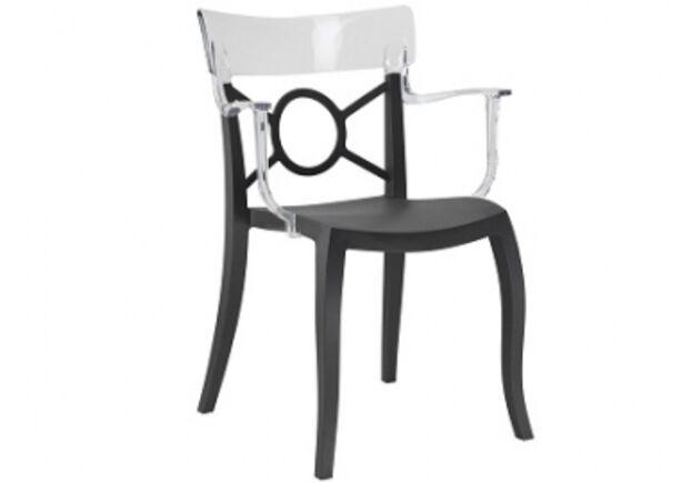 Кресло Papatya Opera-S сиденье черное/верх прозрачный - Фото №1