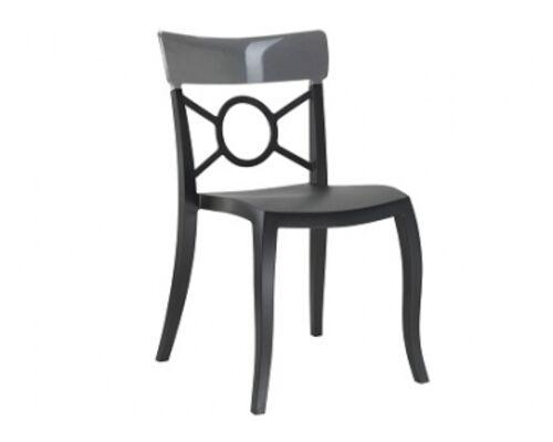 Кресло Papatya Opera-S сиденье черное/верх прозрачно-дымчатый - Фото №1