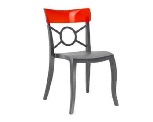 Кресло Papatya Opera-S сиденье антрацит/верх прозрачно-красный - Фото №1