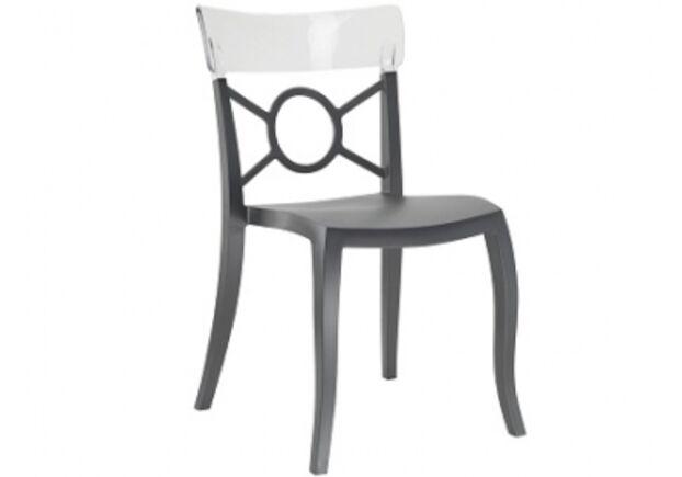 Кресло Papatya Opera-S сиденье антрацит/верх прозрачно-дымчатый - Фото №1
