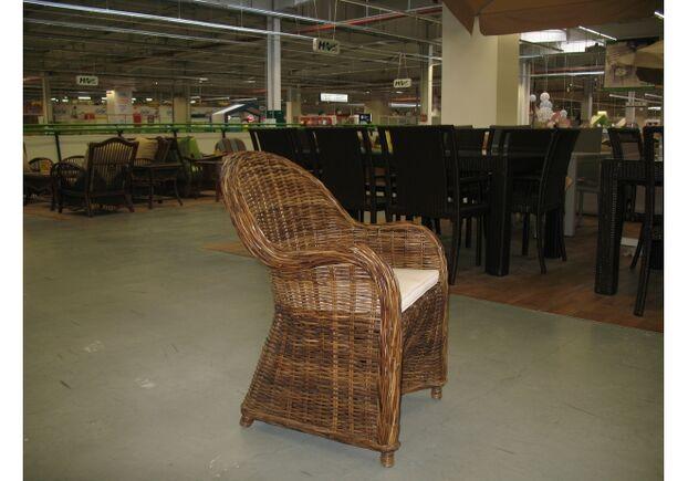 Кресло CRUZO SEYSHELLA натуральный ротанг коричневый - Фото №2