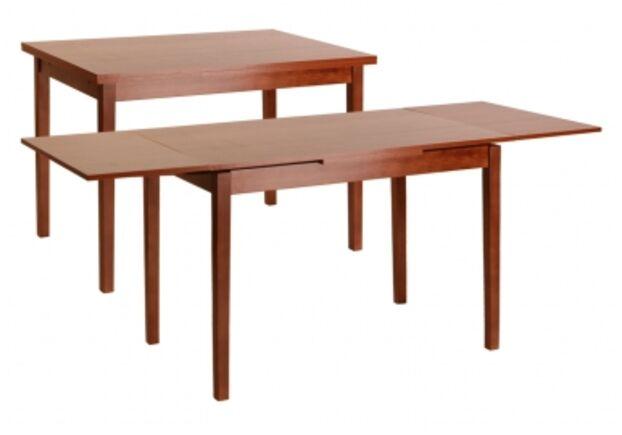 Стол обеденный Жанет 2 яблоня темная 110(147/184)*70 см - Фото №1