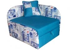 Раскладной диван детский голубой
