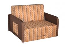 Раскладной прямой диван коричневый