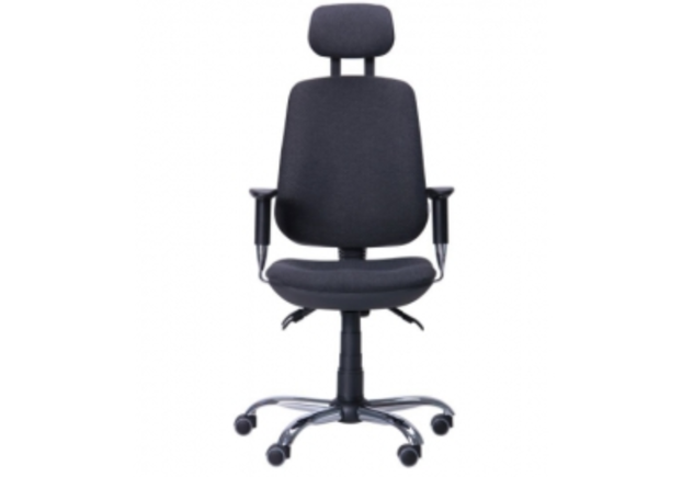 Кресло Регби HR MF Chrome Квадро с подголовником - Фото №1
