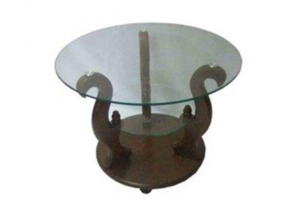 """Журнальный стеклянный стол """"Версаль"""" 700*700*500 стекло тонированное - Фото №1"""