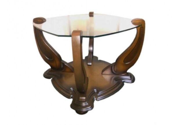 """Журнальный стеклянный стол """"Импереал"""" 700*700*500 стекло тонированное - Фото №1"""