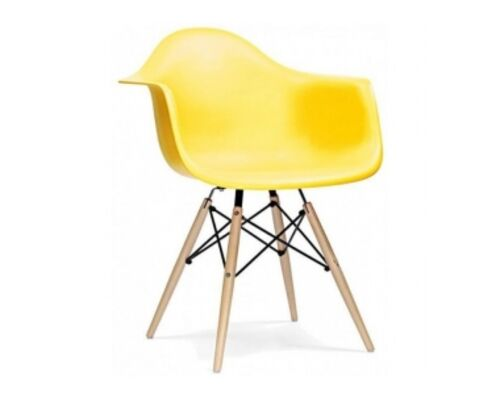 Кресло Тауэр вуд жёлтое - Фото №1
