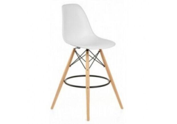 Барный высокий стул ТАУЭР ВУД белый - Фото №1