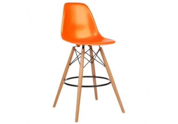 Барный высокий стул ТАУЭР ВУД оранжевый - Фото №1