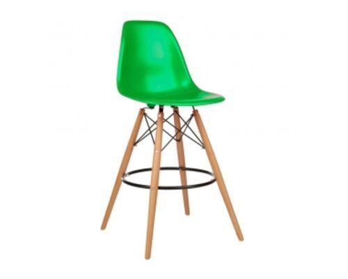 Барный высокий стул ТАУЭР ВУД зелёный - Фото №1