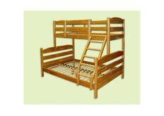 Трехместная двухъярусная кровать-трансформер