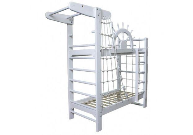 Двухъярусная кровать Пират Белый 70*160 см - Фото №2