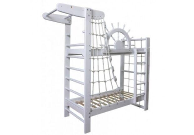 Двухъярусная кровать Пират Белый 70*160 см - Фото №1