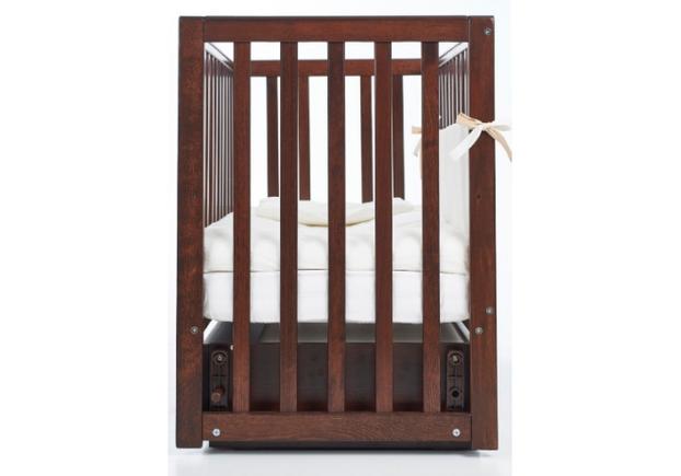 Детская кроватка Соня ЛД13 цвет орех маятник с ящиком  - Фото №2