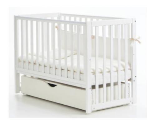 Детская кроватка Соня ЛД13 цвет белый маятник с ящиком - Фото №1