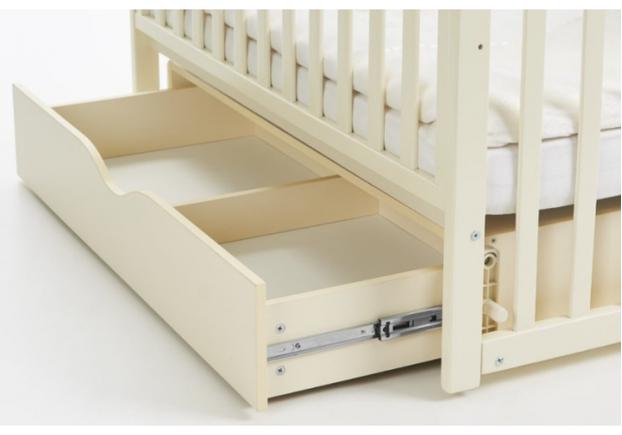 Детская кроватка Соня ЛД13 слоновая кость маятник с ящиком - Фото №2