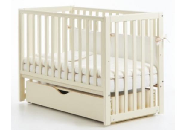 Детская кроватка Соня ЛД13 слоновая кость маятник с ящиком - Фото №1