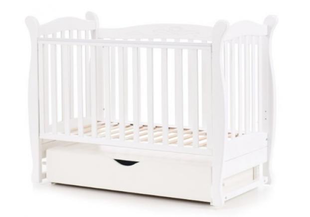 Детская кроватка Соня ЛД-15 цвет белый маятник с ящиком - Фото №2