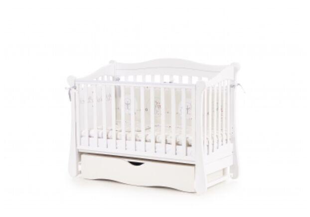 Детская кроватка Соня ЛД-18 цвет белый маятник с ящиком - Фото №1
